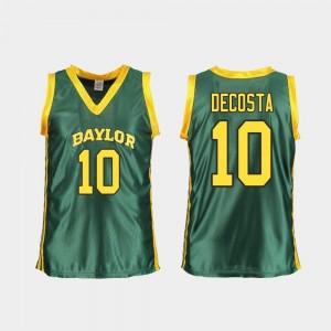Women's #10 Aquira DeCosta Baylor Jersey Green College Basketball Replica