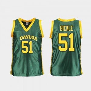Ladies College Basketball Caitlyn Bickle Baylor Bears Jersey Green #51 Replica