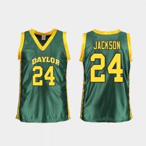 Replica For Women's College Basketball Chloe Jackson Baylor Bears Jersey #24 Green