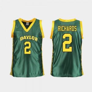 #2 Women's DiDi Richards Baylor Jersey Replica Green College Basketball