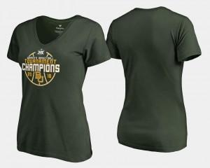 Ladies Baylor T-Shirt Green Basketball Conference Tournament V Neck 2018 Big 12 Champions