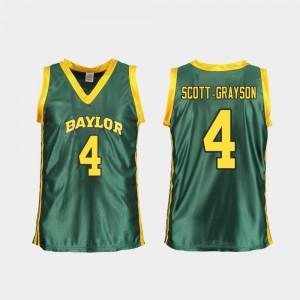 For Women Honesty Scott-Grayson Bears Jersey Green #4 College Basketball Replica