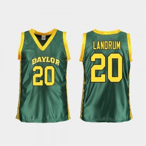 Green For Women's Juicy Landrum Baylor University Jersey College Basketball Replica #20
