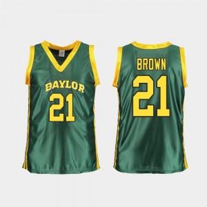 Kalani Brown BU Jersey Replica Green #21 College Basketball Women