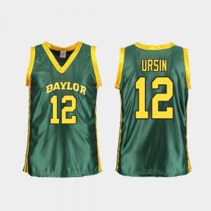 Replica College Basketball Moon Ursin Bears Jersey Green #12 Women's