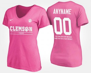 Pink T shirt With Message Name and Number #00 Women CFP Champs Custom T-Shirts