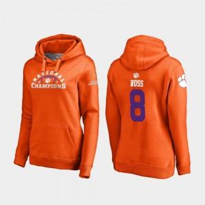 For Women Justyn Ross Clemson Hoodie College Football Playoff Pylon 2018 National Champions #8 Orange