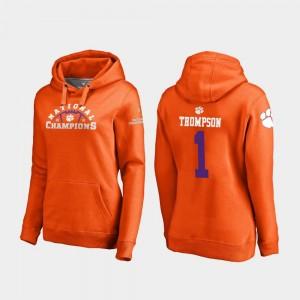Ladies Trevion Thompson CFP Champs Hoodie Orange #1 College Football Playoff Pylon 2018 National Champions