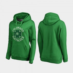 University of Colorado Hoodie For Women's Luck Tradition Fanatics Branded St. Patrick's Day Kelly Green