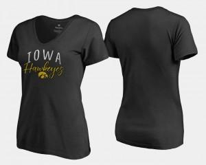 Black Iowa T-Shirt Graceful V Neck Fanatics Branded Ladies