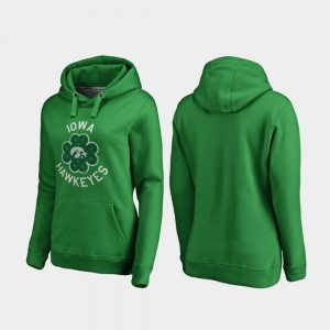 Womens Iowa Hoodie Kelly Green St. Patrick's Day Luck Tradition Fanatics Branded