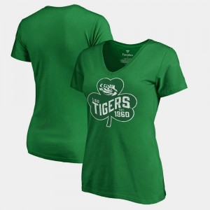 Kelly Green St. Patrick's Day Women's LSU T-Shirt Paddy's Pride Fanatics
