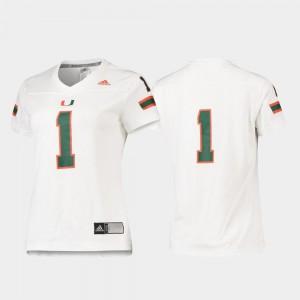 #1 Replica White Miami Jersey Womens Football Adidas
