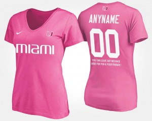 Name and Number T shirt With Message Womens Pink #00 Hurricanes Custom T-Shirts
