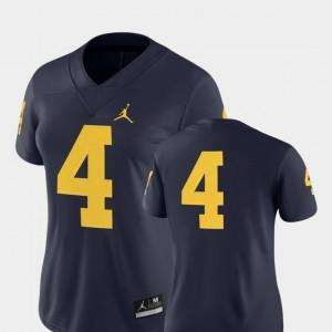 2018 Game Nike Navy Women University of Michigan Jersey College Football #4