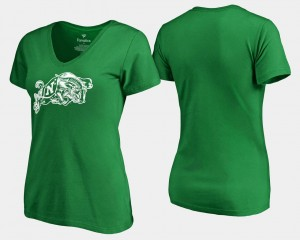 Kelly Green St. Patrick's Day White Logo Fanatics Branded Navy T-Shirt For Women's
