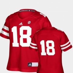 Replica Adidas Women Scarlet #18 Nebraska Jersey College Football