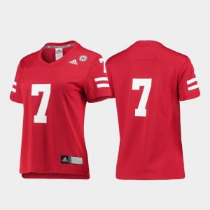 Scarlet #7 Replica Cornhuskers Jersey College Football For Women