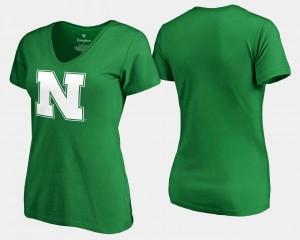 Kelly Green White Logo Fanatics Branded St. Patrick's Day Nebraska Cornhuskers T-Shirt Womens