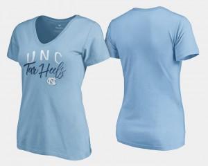 V Neck Fanatics Branded University of North Carolina T-Shirt Women's Graceful Carolina Blue