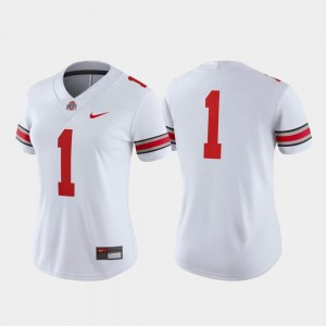 Game For Women White College Football #1 Ohio State Jersey