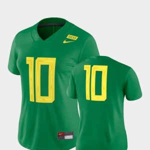 Oregon Jersey 2018 Mighty Oregon #10 Womens Green Football Game Nike