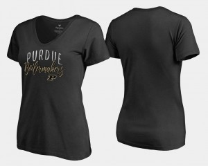 Graceful Ladies V Neck Fanatics Branded Purdue T-Shirt Black