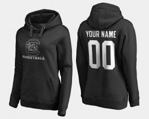 Black Gamecocks Customized Hoodie #00 Name and Number For Women Basketball