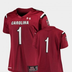 South Carolina Jersey College Football Garnet Finished Replica Under Armour Womens #1