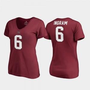 Melvin Ingram South Carolina Gamecocks T-Shirt V Neck #6 Garnet Women's College Legends