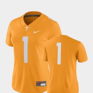 Women 2018 Game Nike #1 College Football Tennessee Orange UT Jersey