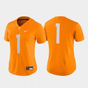 Tennessee Orange College Football #1 Vols Jersey Game Women