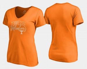 Graceful Ladies Tennessee Orange UT T-Shirt V Neck Fanatics Branded