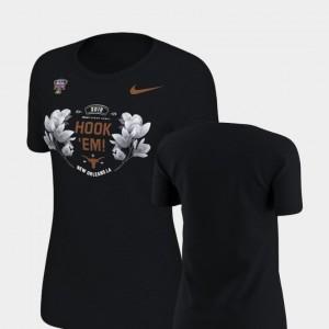Womens Longhorns T-Shirt Verbiage Nike 2019 Sugar Bowl Bound Black