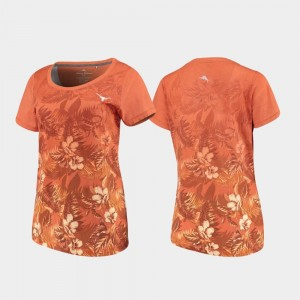 UT T-Shirt Floral Victory Tommy Bahama Texas Orange Womens