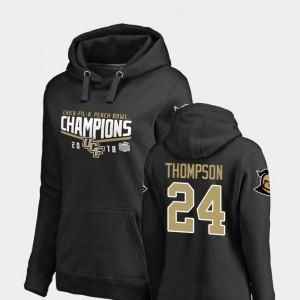 #24 2018 Peach Bowl Champions Ladies Bentavious Thompson UCF Hoodie Fanatics Branded Goal Black