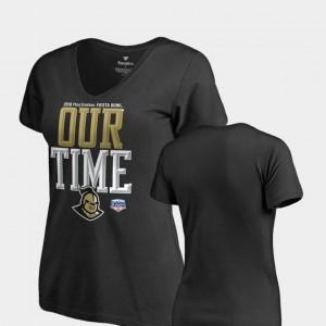 Counter V Neck Fanatics Branded UCF Knights T-Shirt 2019 Fiesta Bowl Bound Women's Black