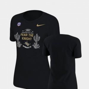 UCF T-Shirt Black Verbiage Nike For Women 2019 Fiesta Bowl Bound