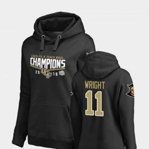 Fanatics Branded Goal Matthew Wright UCF Knights Hoodie #11 Black Women 2018 Peach Bowl Champions