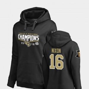 Black 2018 Peach Bowl Champions Tre Nixon UCF Knights Hoodie #16 For Women Fanatics Branded Goal