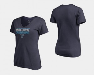 Wildcats T-Shirt 2018 Dribble V Neck For Women's Basketball National Champions Navy