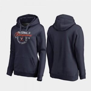 2019 NCAA Men's Basketball National Champions Jump Pullover UVA Hoodie For Women's 2019 Men's Basketball Champions Navy
