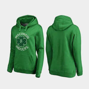 Kelly Green St. Patrick's Day Ladies Luck Tradition Fanatics Branded Wisconsin Badgers Hoodie
