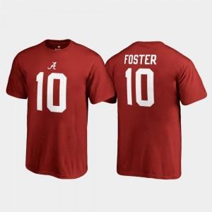 Name & Number Youth(Kids) Crimson Reuben Foster University of Alabama T-Shirt #10 College Legends