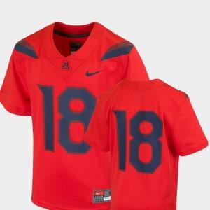 For Kids Red Team Replica Nike #18 Arizona Jersey College Football