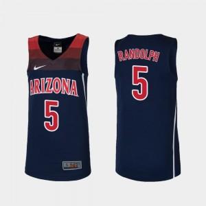Kids Brandon Randolph University of Arizona Jersey #5 Replica College Basketball Navy