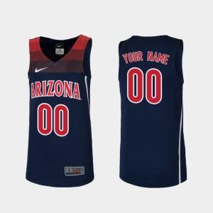 Arizona Wildcats Customized Jerseys College Basketball Replica For Kids #00 Navy