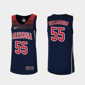 College Basketball Replica Navy #55 Jake DesJardins University of Arizona Jersey Youth