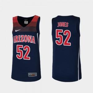 College Basketball For Kids #52 Replica Navy Kory Jones University of Arizona Jersey