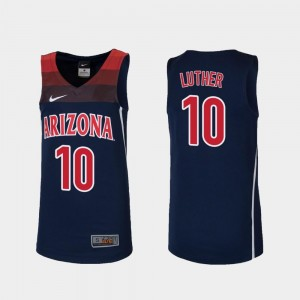 #10 Ryan Luther Arizona Jersey Replica Navy College Basketball Kids
